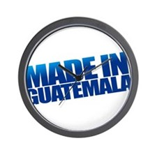 GUATEMALA BLUE Wall Clock