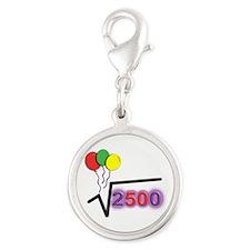 Funny Math 50th Bday © Silver Round Charm