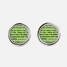 what nursing means to me BLUE Cufflinks