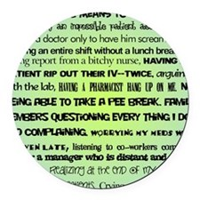 what nursing means to me BLUE Round Car Magnet