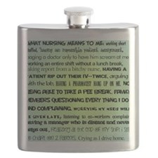 what nursing means to me BLUE Flask