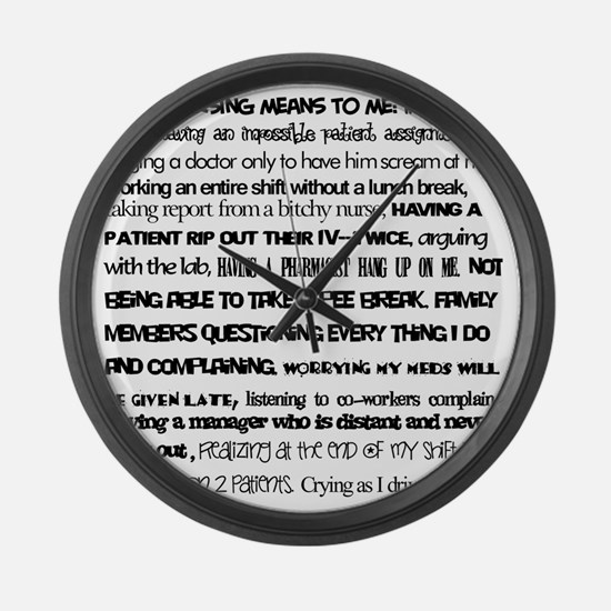 What nursing means to me Large Wall Clock