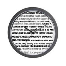 What nursing means to me Wall Clock