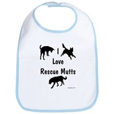 I Love Rescue Mutts Bib