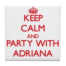 Keep Calm and Party with Adriana Tile Coaster