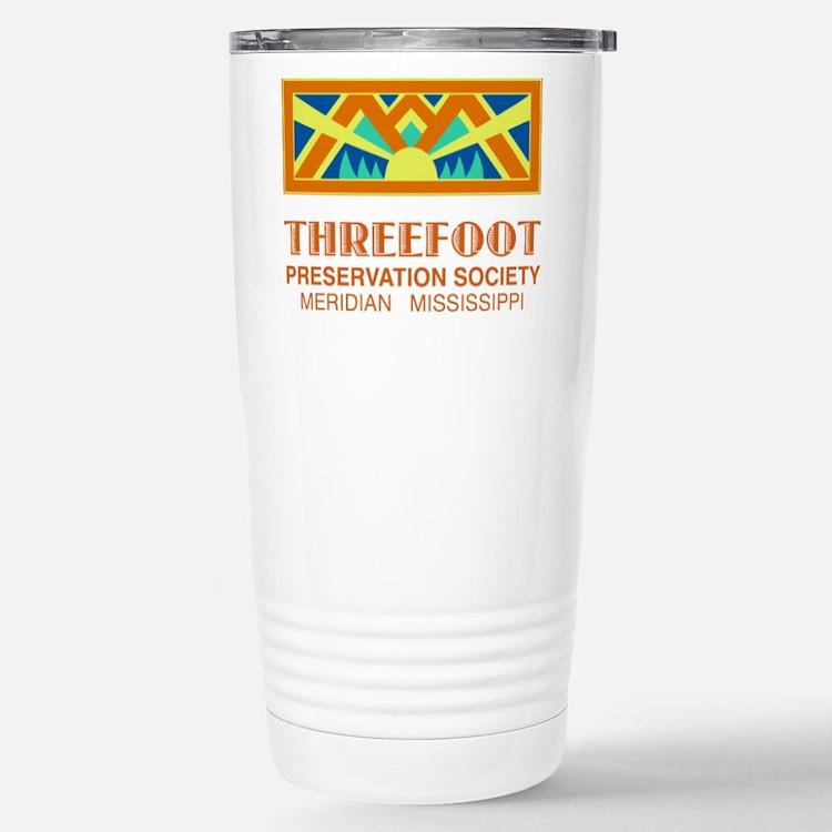 Threefoot Preservation Society Motif Travel Mug
