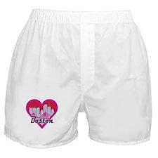 Boston Skyline Heart Boxer Shorts