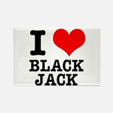 I Heart (Love) Blackjack Rectangle Magnet