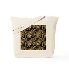 Gold and Brown Paisley Tote Bag