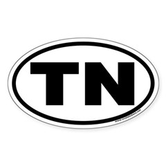 Tennessee TN Euro Oval Decal