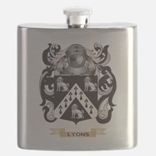 Lyons Coat of Arms - Family Crest Flask
