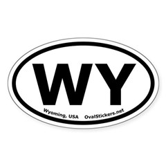 Wyoming Oval Bumper Decal