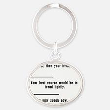 Tread Lightly Oval Keychain