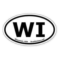 Wisconsin Oval Bumper Decal