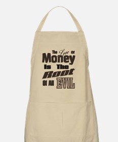 Brown Love of Money Root of Evil Apron