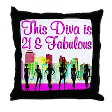FABULOUS 21ST Throw Pillow
