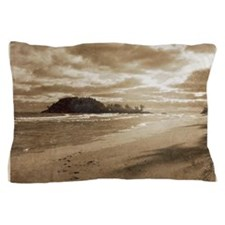 Footsteps In The Sand Pillow Case