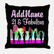 TRENDY 21ST Throw Pillow