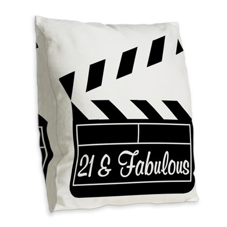 21ST SUPER STAR Burlap Throw Pillow