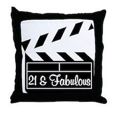 21ST SUPER STAR Throw Pillow