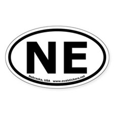 Nebraska Oval Bumper Decal