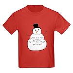 Snowman Kids Dark T-Shirt