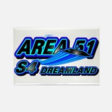 Area 51 S4 Blue Rectangle Magnet