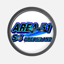 Area 51 S4 Blue Wall Clock