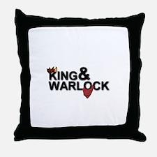 King&Warlock Throw Pillow