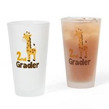 2nd Grader giraffe Drinking Glass