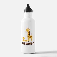 2nd Grader giraffe Water Bottle