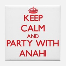 Keep Calm and Party with Anahi Tile Coaster