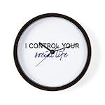Control Social Life Wall Clock