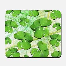 Shamrock Clover St Patricks Day Mousepad