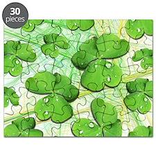 Shamrock Clover St Patricks Day Puzzle