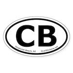 Chadwick Beach, New Jersey Oval Car Sticker