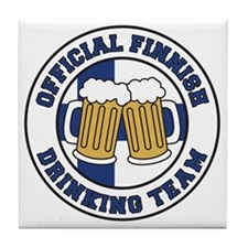 Official Finnish Drinking Team Tile Coaster