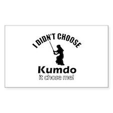 I didn't choose Kumdo Decal
