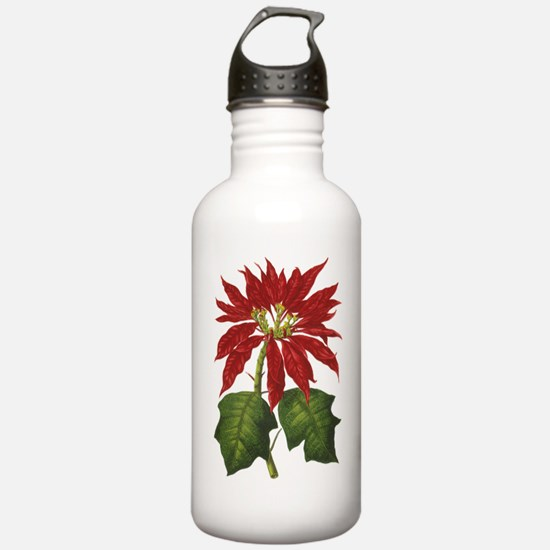 Vintage Christmas Poin Water Bottle