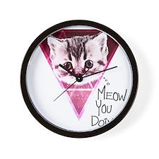meow-u-doin-2 Wall Clock
