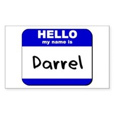 hello my name is darrel Rectangle Decal