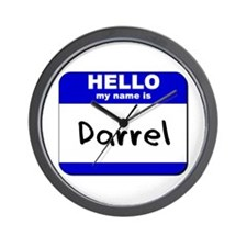 hello my name is darrel  Wall Clock