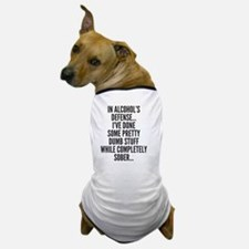 In Alcohols Defense Dog T-Shirt
