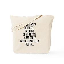 In Alcohols Defense Tote Bag