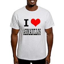 I Heart (Love) Armadillos T-Shirt