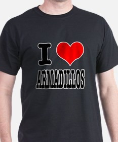 I Heart (Love) Armadillos T-Shirt