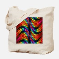 Fractal Silk Rainbow Pattern Tote Bag