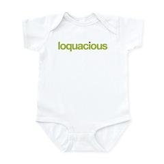 loquacious (talkative)
