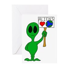 Aliens Love Earth Day Greeting Cards (Pk of 10