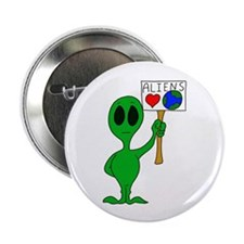 """Aliens Love Earth Day 2.25"""" Button (100 pack)"""